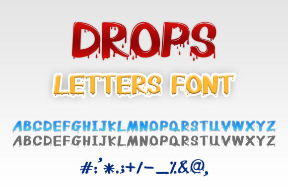 Print on Demand: Drops Letters Display Schriftarten von OWPictures