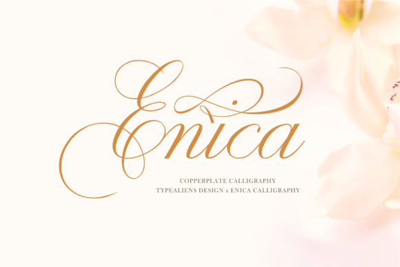 Print on Demand: Enica Script & Handwritten Font By typealiens