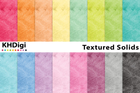 Print on Demand: Essentials - Textured Solids Graphic Backgrounds By KHDigi