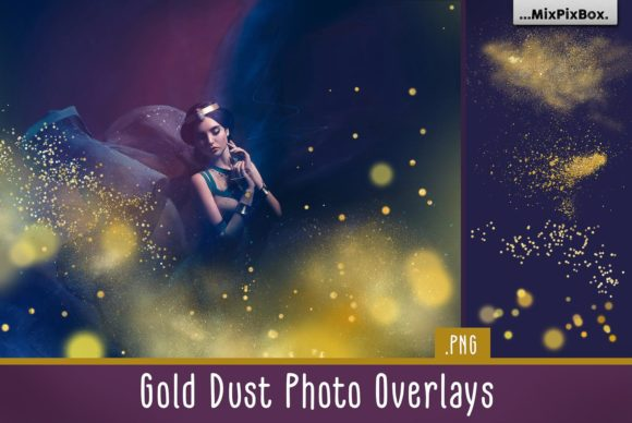 Print on Demand: Gold Dust Photo Overlays Graphic Layer Styles By MixPixBox
