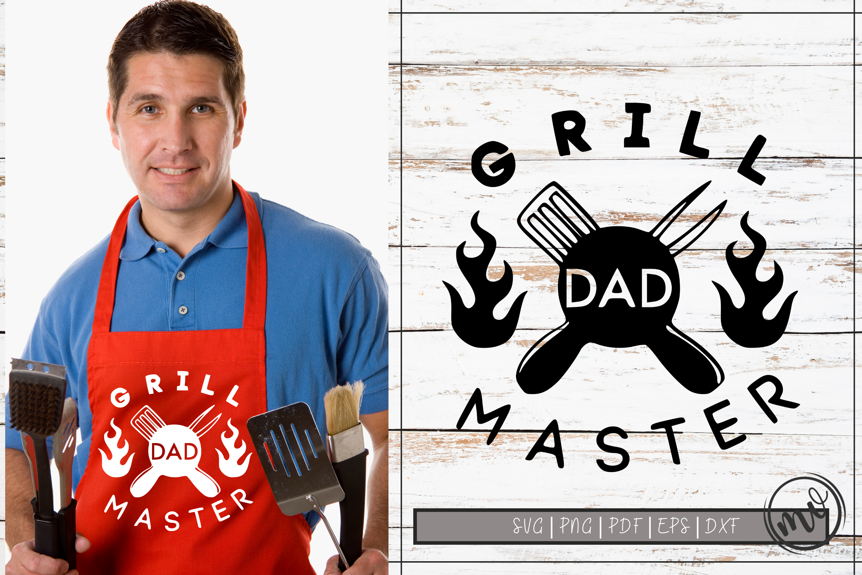 Download Free Grill Master Dad Cut File Graphic By Mockup Venue Creative Fabrica for Cricut Explore, Silhouette and other cutting machines.