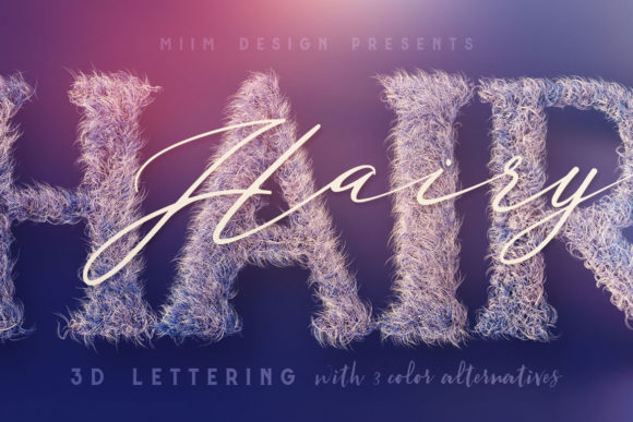 Print on Demand: Hairy – 3D Lettering Graphic Objects By JumboDesign
