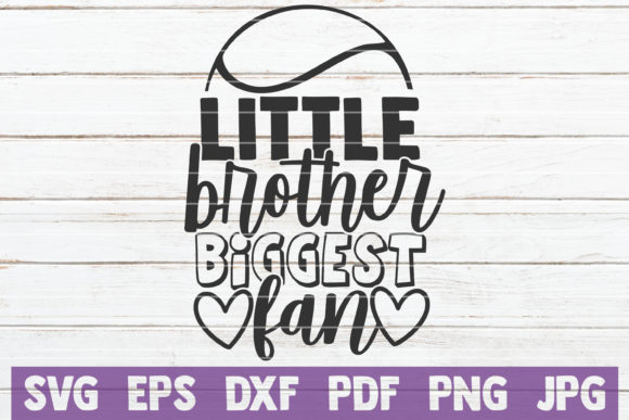 Download Free Little Brother Biggest Fan Graphic By Mintymarshmallows for Cricut Explore, Silhouette and other cutting machines.