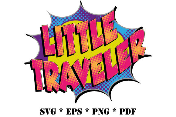 Download Free Little Traveler Speech Bubble Comic Graphic By Graphicsfarm for Cricut Explore, Silhouette and other cutting machines.