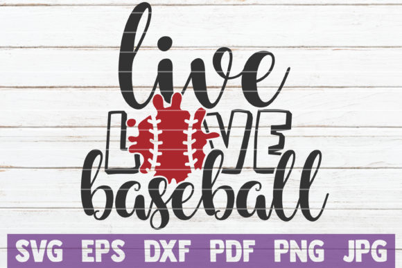 Download Free Live Love Baseball Graphic By Mintymarshmallows Creative Fabrica for Cricut Explore, Silhouette and other cutting machines.