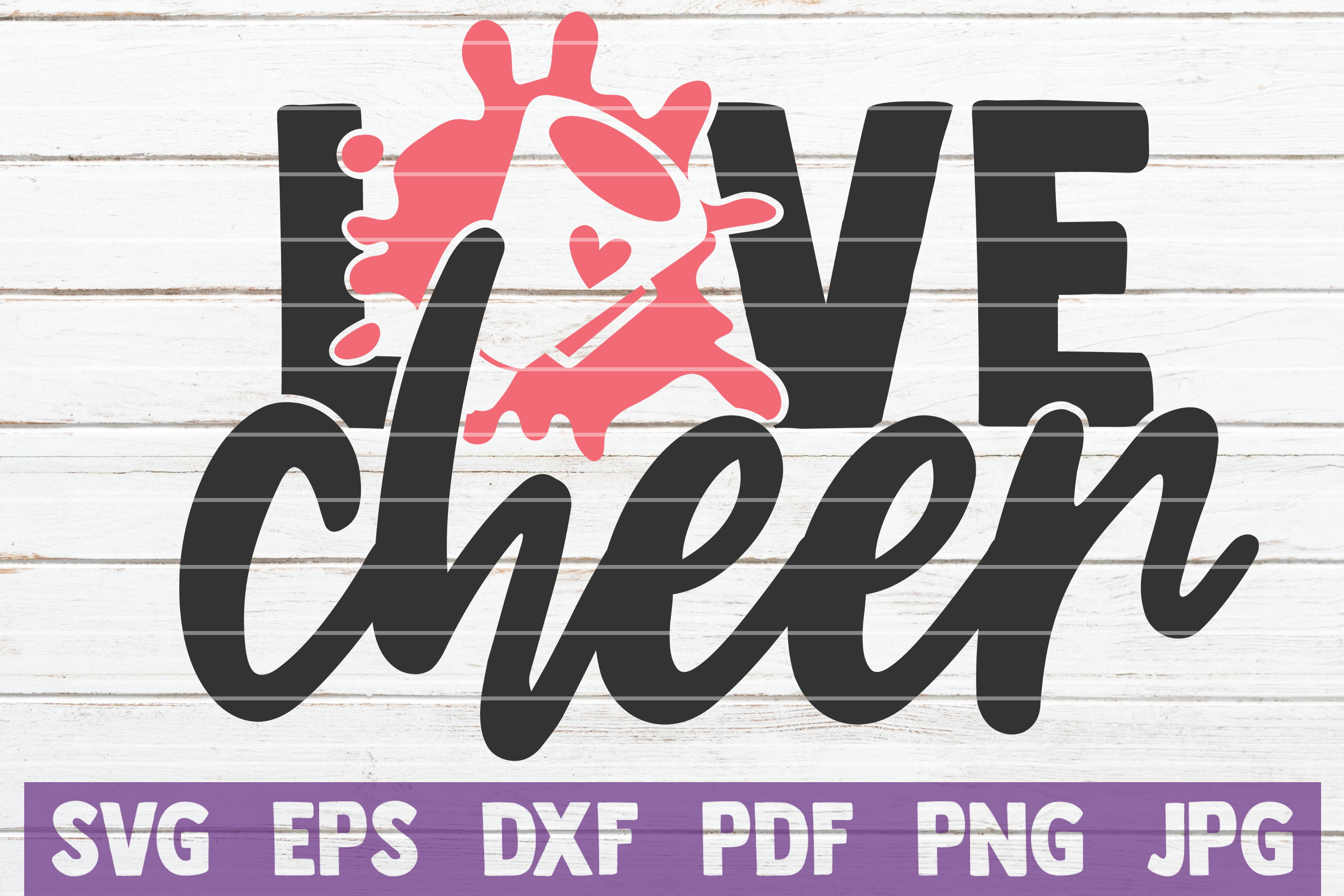 Download Free Love Cheer Graphic By Mintymarshmallows Creative Fabrica for Cricut Explore, Silhouette and other cutting machines.