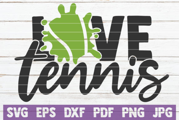 Love Tennis Graphic Crafts By MintyMarshmallows