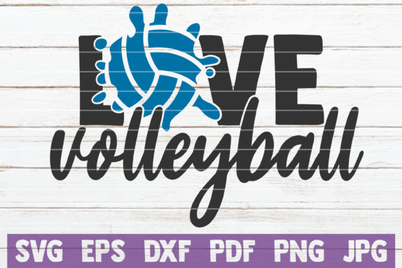 Download Free Love Volleyball Graphic By Mintymarshmallows Creative Fabrica SVG Cut Files