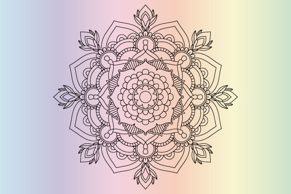 Download Free Mandala Coloring Page Template Vector Graphic By Graphicsfarm for Cricut Explore, Silhouette and other cutting machines.
