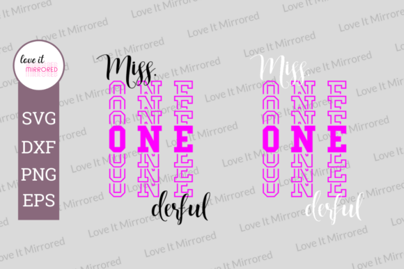 Download Free Miss Onederful 1st Birthday Design Graphic By Love It Mirrored Creative Fabrica for Cricut Explore, Silhouette and other cutting machines.