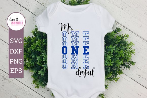 Download Free Mr Onederful 1st Birthday Design Graphic By Love It Mirrored for Cricut Explore, Silhouette and other cutting machines.