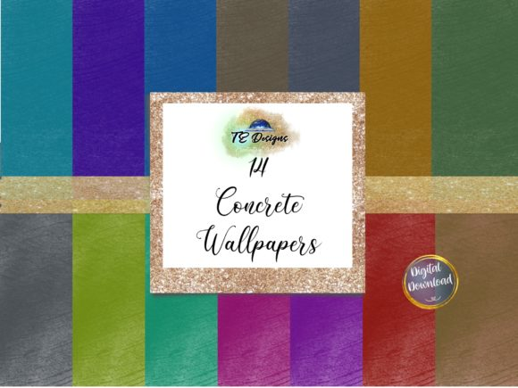 Download Free Multicoloured Concrete Wallpaper Graphic By Te Designs for Cricut Explore, Silhouette and other cutting machines.