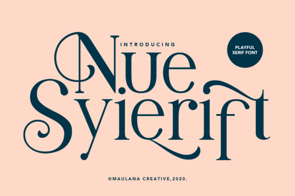 Print on Demand: Nue Syierift Serif Font By Maulana Creative