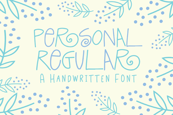 Print on Demand: Personal Regular Script & Handwritten Font By carrtoonz
