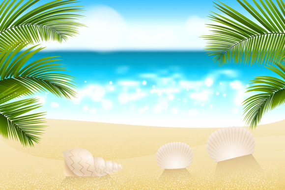 Download Free Summer Exotic Beach Palms And Sand Graphic By Kapitosh for Cricut Explore, Silhouette and other cutting machines.