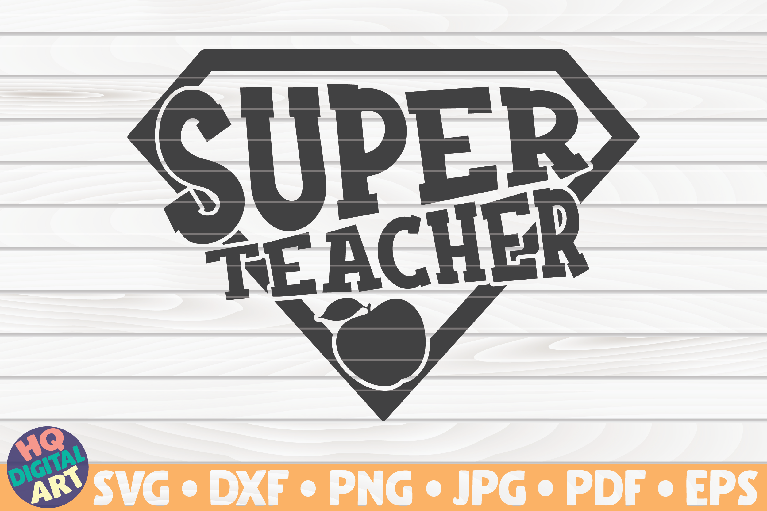 Download Free Super Teacher Teacher Quote Graphic By Mihaibadea95 Creative for Cricut Explore, Silhouette and other cutting machines.
