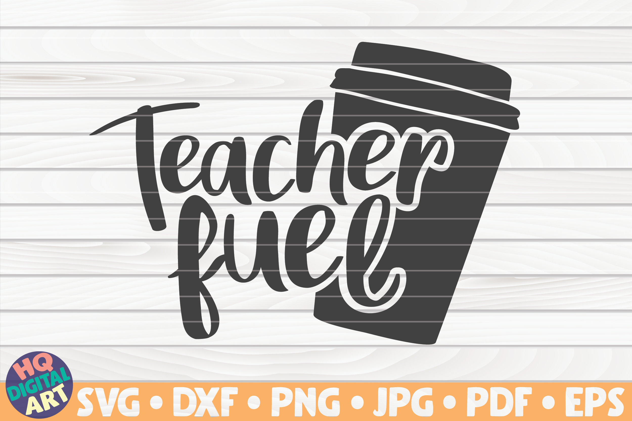 Download Free Teacher Fuel Teacher Quote Graphic By Mihaibadea95 Creative for Cricut Explore, Silhouette and other cutting machines.