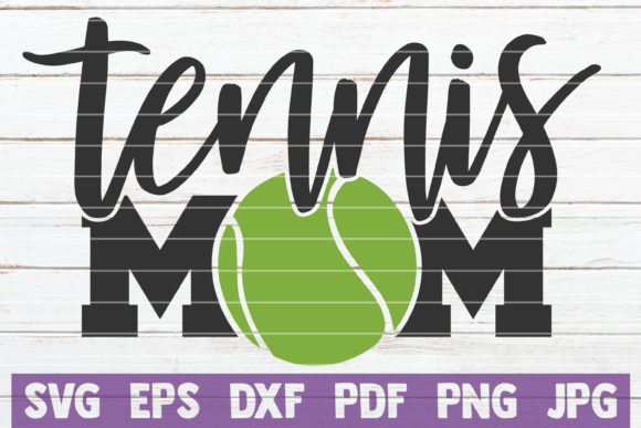 Download Free Tennis Mom Graphic By Mintymarshmallows Creative Fabrica for Cricut Explore, Silhouette and other cutting machines.