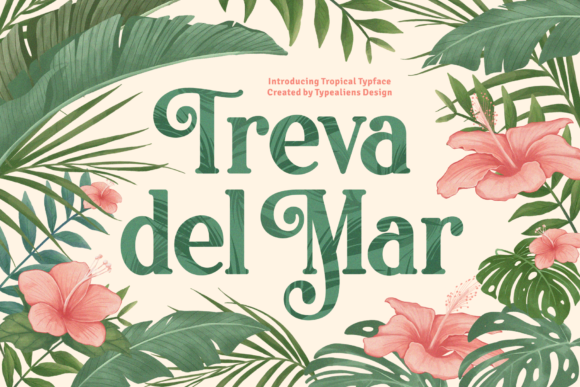 Print on Demand: Treva Del Mar Display Font By typealiens