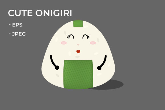 Download Free Unique Expression Onigiri Graphic By Griyolabs Creative Fabrica for Cricut Explore, Silhouette and other cutting machines.
