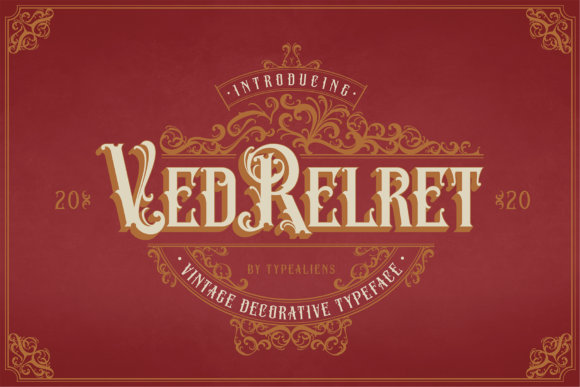 Print on Demand: Ved Relret Display Font By typealiens