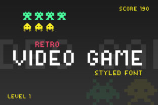 Print on Demand: Video Game Display Font By Salt and Pepper Fonts 1
