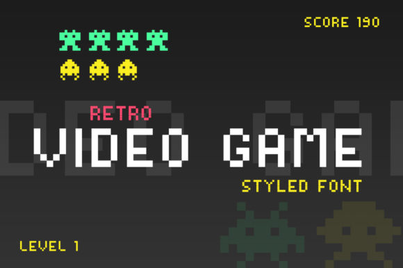 Print on Demand: Video Game Display Font By Salt & Pepper Designs