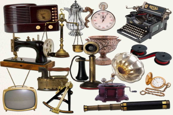 Print on Demand: Vintage Items Clip Art Gráfico Ilustraciones Por retrowalldecor