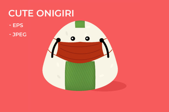 Download Free Wearing A Mask Onigiri Graphic By Griyolabs Creative Fabrica SVG Cut Files