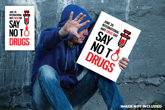 Download Free International Anti Drug Day Poster Graphic By Fatrin99art for Cricut Explore, Silhouette and other cutting machines.