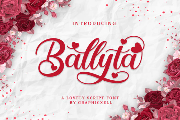Print on Demand: Ballyta Script & Handwritten Font By Graphicxell
