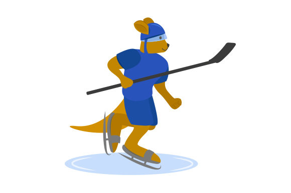 Download Free Kangaroo Ice Hockey Player Svg Cut File By Creative Fabrica for Cricut Explore, Silhouette and other cutting machines.