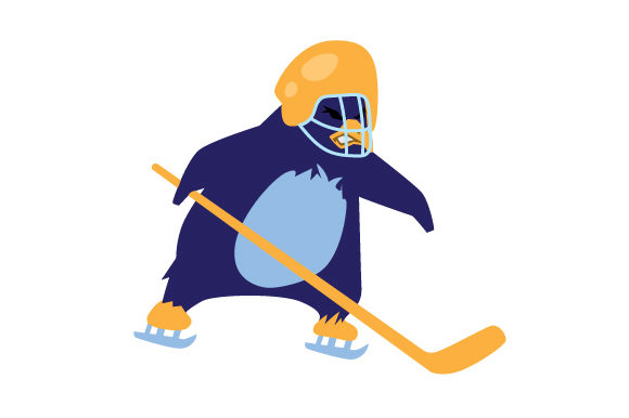 Penguin Ice Hockey Player Sports Craft Cut File By Creative Fabrica Crafts