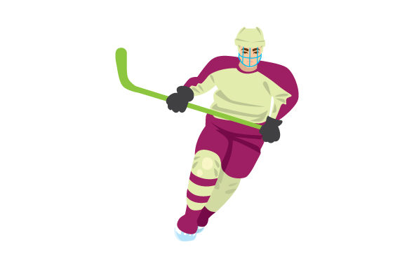Hockey Player Sports Craft Cut File By Creative Fabrica Crafts
