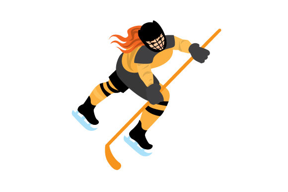 Download Free Hockey Player Svg Cut File By Creative Fabrica Crafts Creative for Cricut Explore, Silhouette and other cutting machines.