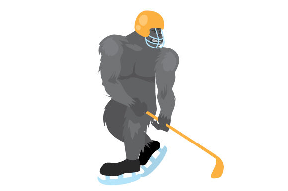Download Free Gorilla Ice Hockey Player Svg Cut File By Creative Fabrica for Cricut Explore, Silhouette and other cutting machines.