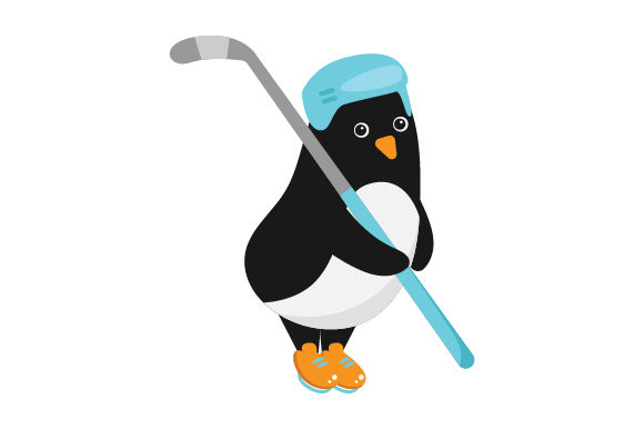 Download Free Penguin Ice Hockey Player Svg Cut File By Creative Fabrica for Cricut Explore, Silhouette and other cutting machines.