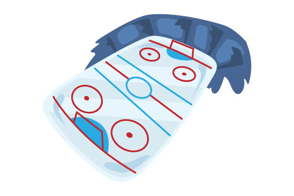 Download Free Ice Hockey Rink Svg Cut File By Creative Fabrica Crafts for Cricut Explore, Silhouette and other cutting machines.