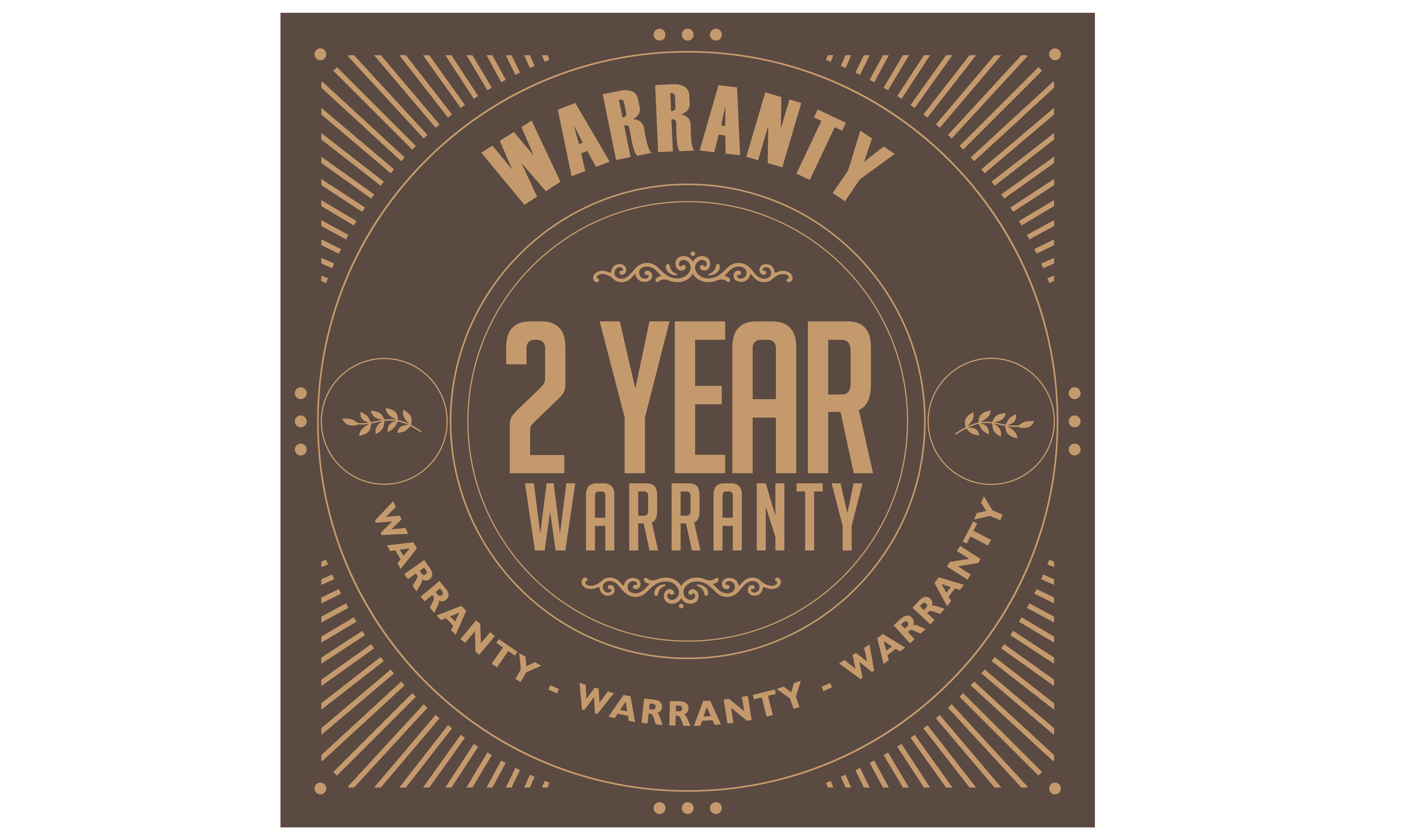 Download Free 2 Years Warranty Illustration Graphic By Baraeiji Creative Fabrica for Cricut Explore, Silhouette and other cutting machines.