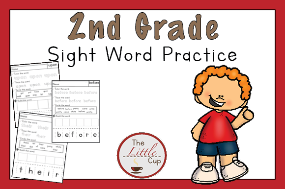 2nd Grade Sight Word Practice Worksheets Graphic Teaching Materials By marie9 - Image 1