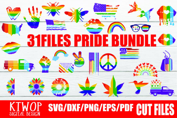 Download Free 31 Elements Pride Lgbtq Gay Bundles Graphic By Ktwop Creative for Cricut Explore, Silhouette and other cutting machines.