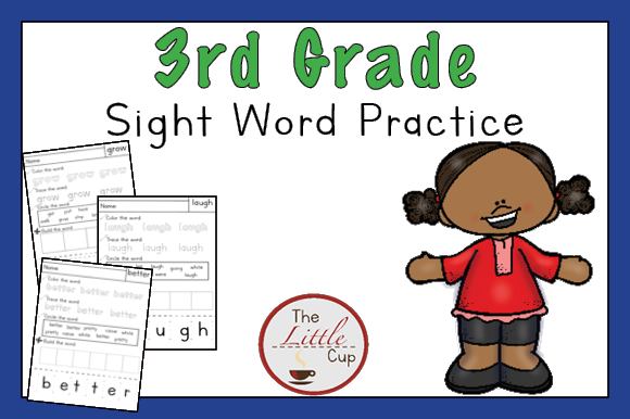 Download Free 3rd Grade Sight Word Practice Worksheets Graphic By Marie9 for Cricut Explore, Silhouette and other cutting machines.