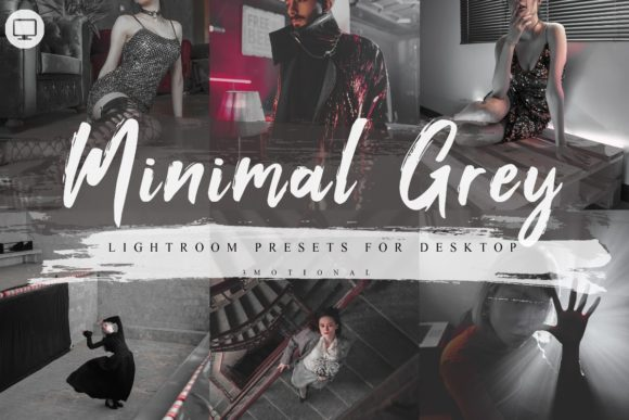 Print on Demand: 7 Minimal Grey Lightroom Presets Graphic Actions & Presets By 3Motional