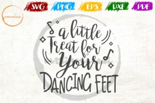 Download Free A Little Treat For Your Dancing Feet Graphic By Uramina for Cricut Explore, Silhouette and other cutting machines.