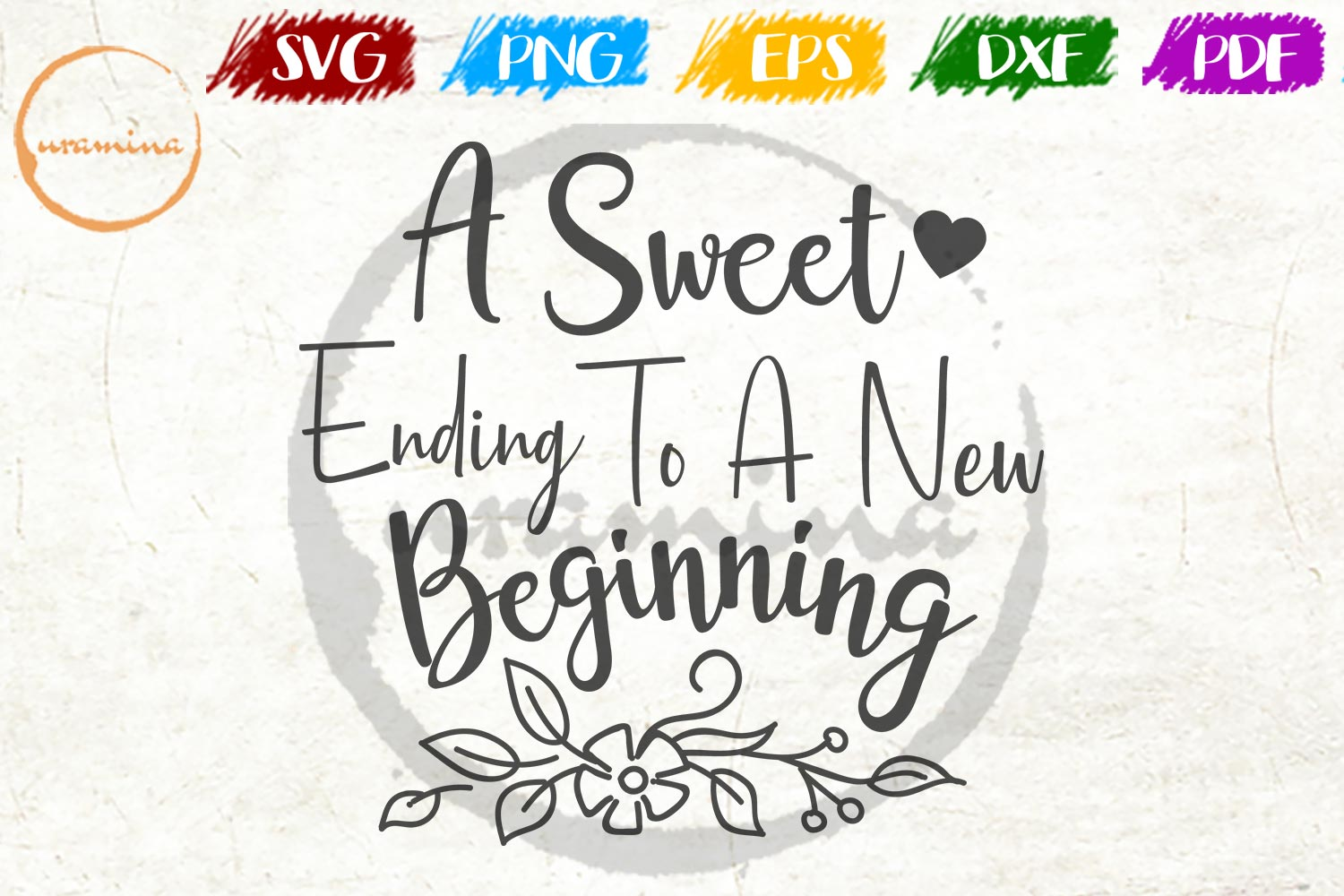 A Sweet Ending To A New Beginning Graphic By Uramina Creative