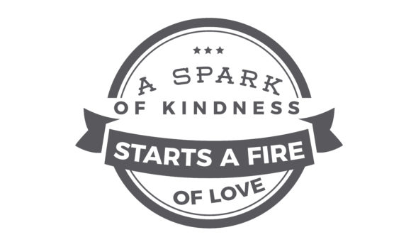 Download Free A Spark Of Kindness Graphic By Baraeiji Creative Fabrica for Cricut Explore, Silhouette and other cutting machines.