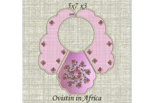 Adorable Pink Floral Baby Bib for Small Hoops Nursery Embroidery Design By Ovistin in Africa