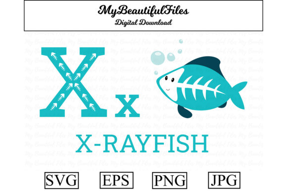 Download Free Alphabet Abc Animal Xrayfish Graphic By Mybeautifulfiles for Cricut Explore, Silhouette and other cutting machines.