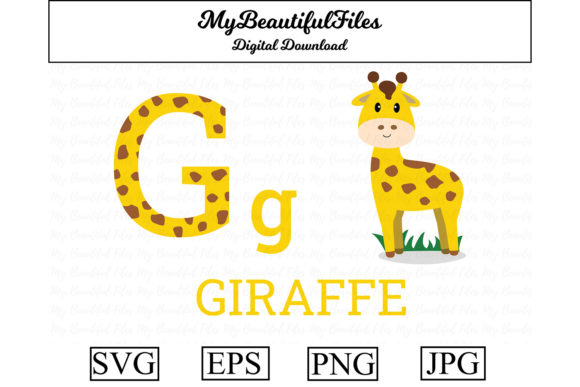 Print on Demand: Alphabet ABC Animal - Giraffe Graphic Illustrations By MyBeautifulFiles