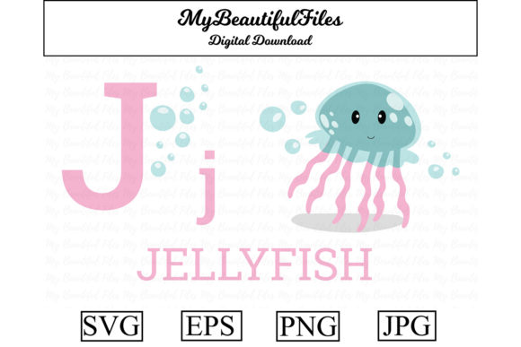 Download Free Alphabet Abc Animal Jellyfish Graphic By Mybeautifulfiles for Cricut Explore, Silhouette and other cutting machines.